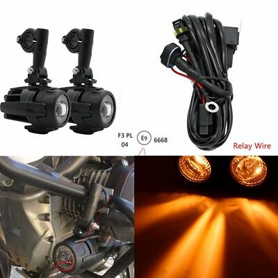 Amber Head Light Safety Spot Fog Light Core Line Group For BMW R1200GS ADV K1600