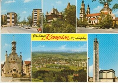 Germany (W) - Views of Kempten Town (Post Card) 1960's