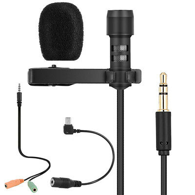 Mini Cravate Microphone Omnidirectionnel Mic Condensateur 3.5 mm p/iPhone Z5U7