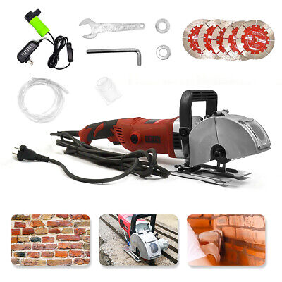 3600W Electric Wall Chaser Groove Steel Concrete Cutting Slotting Machine 220V