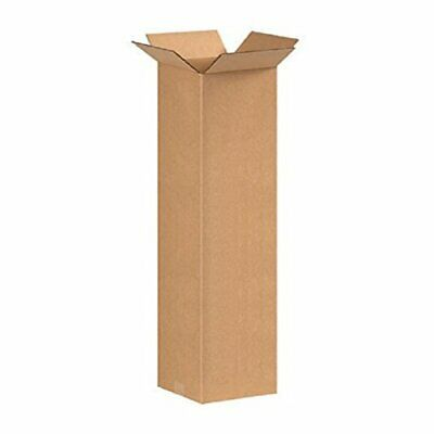 Cardboard Postage Boxes Double Wall Postal Mailing Bottle Box Candle 4 x 4 x 13""
