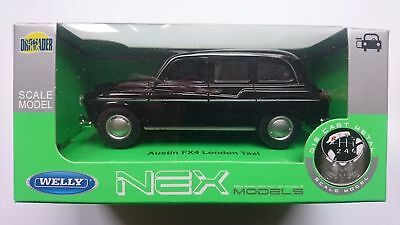 TX4 LONDON TAXI SILVER 1:34-1:39 WELLY METAL CAR NIB