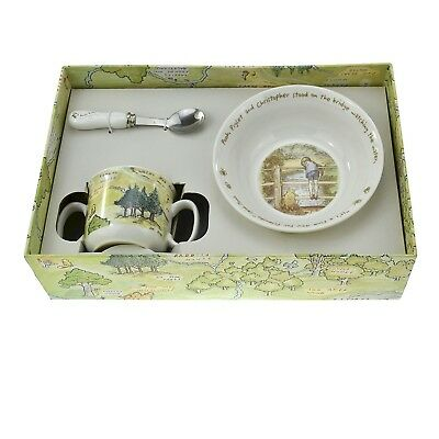Disney Winnie the Pooh Ceramic Three Piece Breakfast Set Baby/Christening Gift