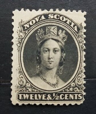 Nova Scotia. 12 1/2 cent black stamp.  m/m