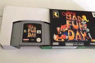 Conkers Bad Fur Day Brand New N64 Game UK Pal Version Tested Bargain Box