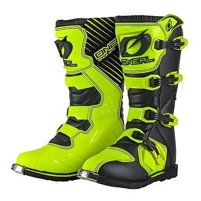 Oneal RIDER MOTOCROSS Boots MX Off Road ATV Racing Dirt Boot NEON YELLOW