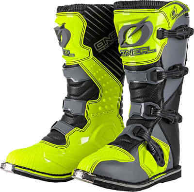 Oneal RIDER MOTOCROSS Boots MX Off Road ATV Racing Dirt Boot GRAY/NEON YELLOW