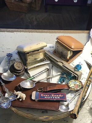 Vintage collectable Job Lot Drawer Clearance Clock Jewellery Cutlery