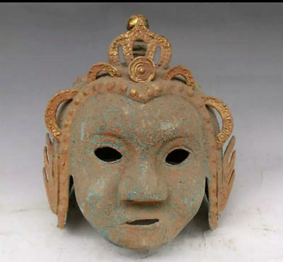 antique The ancient Chinese general's bronze and gold helmet