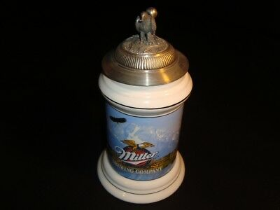 1997 Miller Brewing Eagle Lidded Stein – FREE SHIPPING