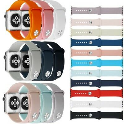 Silikon Sport Band Ersatz Armband Apple Watch 1 2 3 4