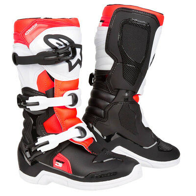 Alpinestars Kids Motocross-Stiefel Tech 3S Youth Schwarz/Weiß/Fluo Rot