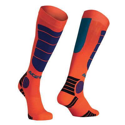 Acerbis Socken MX Impact Fluo Orange/Blau