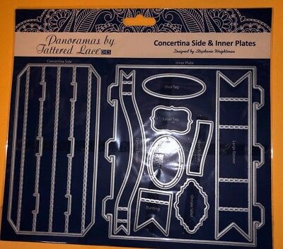 Tattered Lace Metal Dies concertina & inner plates - craft machine cutters