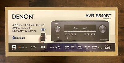 Denon AVR-S540BT 5.2 Channel 4K Ultra HD AV Receiver with Bluetooth Brand New!