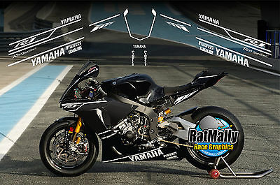 Winter Test Graphics - To Fit Yamaha Yzf R1 Or Similar - Race Track Decals