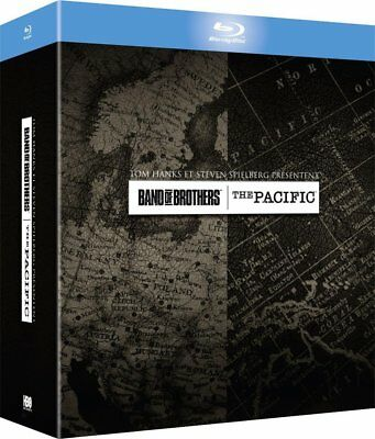 BAND OF BROTHERS + THE PACIFIC BLU-RAY Box Set NEW (French Box - English Audio)