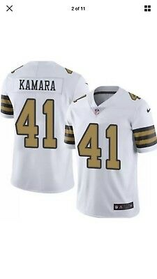 Alvin Kamara  41 New Orleans Saints Jersey Color Rush Nike On Field XL 0b4c84585
