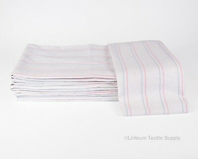 Linteum Textile (12-Pack, 36x36 in) Receiving HOSPITAL BABY BLANKETS, Striped