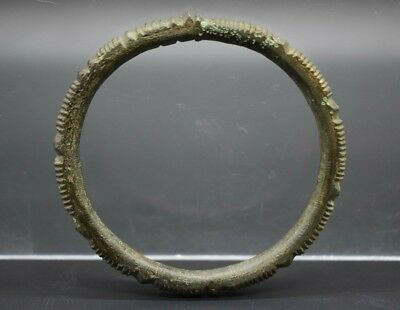 Celtic La Tene culture bronze decorated bracelet C. 4th - 1st century BC