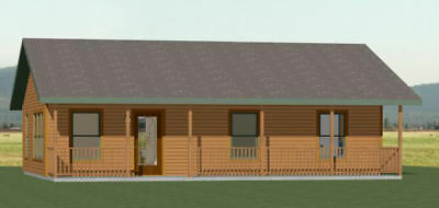 36x24 House -- 2 Bedroom 2 Bath -- 864 sq ft -- PDF Floor Plan -- Model 3E