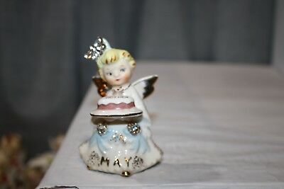 Vintage Lefton May Angel of the Month Figurine Mother's Day Cake