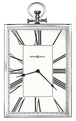 "Howard Miller Rectangular Pocket Watch Style  Wall Clock ""Marti"" 625652"