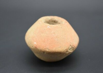 Ancient Roman terracotta spindle whorl C. 1st - 3rd century AD