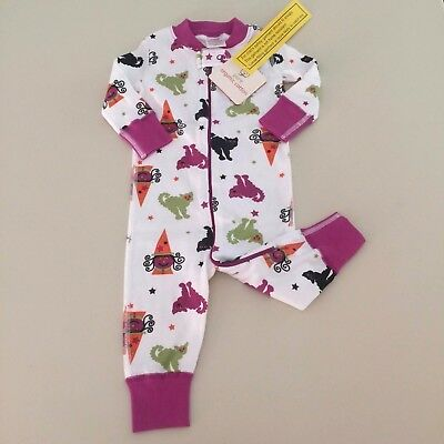 """HANNA ANDERSSON Cute Baby GIRLS """"CAT"""" Pajama, 3-9 months, 60 cm New! So Comfy"""