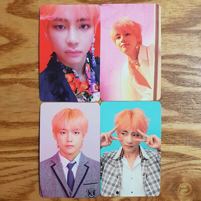 V Official Photocard 4 pcs Set BTS Love Yourself Answer Taehyung Genuine Kpop