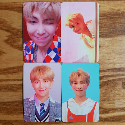 RM Official Photocard 4 pcs Set BTS Love Yourself Answer Genuine Kpop