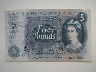 Bank of England Hollom £5 note B297 A UNC