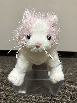 Webkinz PINK WHITE Cat UNUSED TAG IN HAND plush free ship sealed NWT