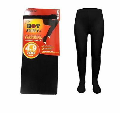 3X LADIES WOMEN THERMAL TIGHTS FLEECE LINED WINTER WARM THICK BLACK TOG S-XXL