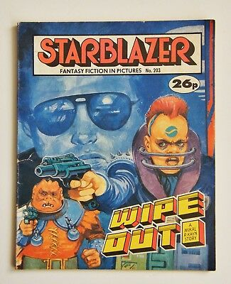 STARBLAZER Fantasy Fiction Comic Book 'Wipe Out' No. 203 Vintage 1980's Sci Fi