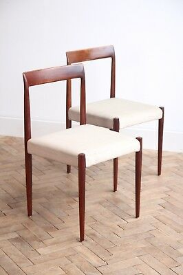 Vintage Retro Danish Pair of Rosewood Dining Chairs Mid Century