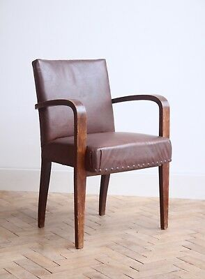 Vintage Retro French Bentwood Office Arm Chair Mid Century