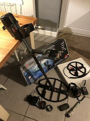 """Minelab CTX3030 Metal Detector *with Extras! * 17"""" & 11"""" Coil,  Plus PINPOINTER"""