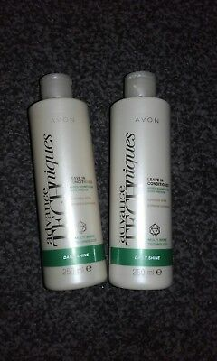 2 x AVON ADVANCE TECHNIQUES DAILY SHINE LEAVE IN CONDTIONER BRAND NEW