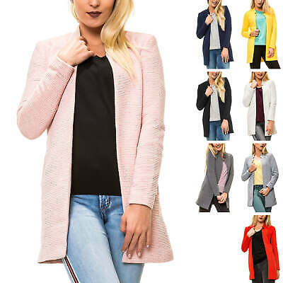 0e43689c5906af Only Damen Kurzmantel Long Blazer mit Melange-Optik Damenmantel Mantel  Business