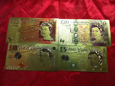 ANY 10 x 24K COLOURED GOLD BANKNOTES ANY COUNTRY & NOTE  $2.80 EACH BARGAIN
