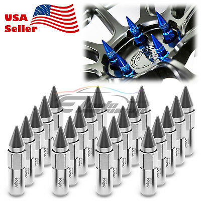 Silver 20 PCS M12X1.25 Spike Extended Lug Nuts For Nissan Rouge Altima 370z 350z