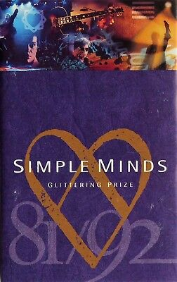 SIMPLE MINDS Glittering Prize 81/92 Cassette Tape VG/EX 1992 Album Virgin hits