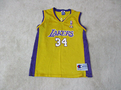 571ed23c3dae VINTAGE Champion Shaquille O Neal Los Angeles Lakers Jersey Youth Medium  Kids