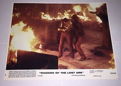 Raiders of The Lost Ark RARE 1981 Movie Lobby Card #6 starring Harrison Ford,