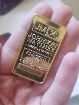 30 grams JM .9999 Fine Gold plated For gold recovery Scrap for gift