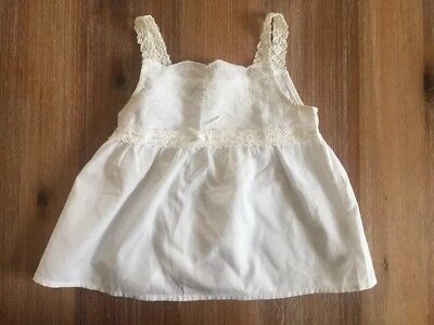 Arizona 24 Months White Lace Tank Top Girls