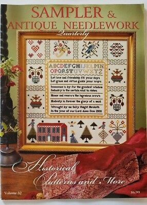 Sampler and Antique Needlework Quarterly Vol 32 Back Issue Magazine Cross Stitch