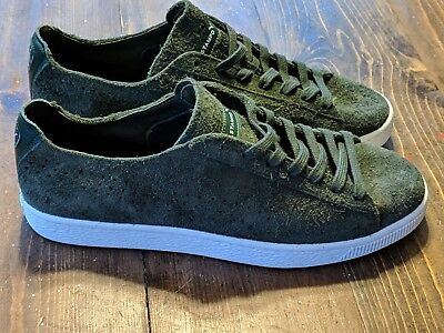 82d51170611 Puma Men s States X Stampd Forest Green Suede Clyde Shoes Size 10.5 0127LF   120