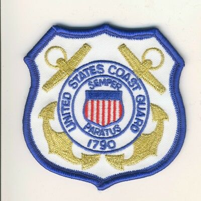 "Novelty US United States 3.25"" Gold Blue Coast Guard Patch"